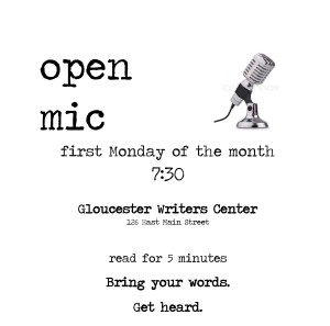 Join us for our Open Mic at 7:30 on the first Monday of each month.