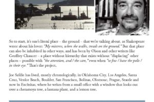 Joe Safdie.  Charles Olson and Finding Your Place.