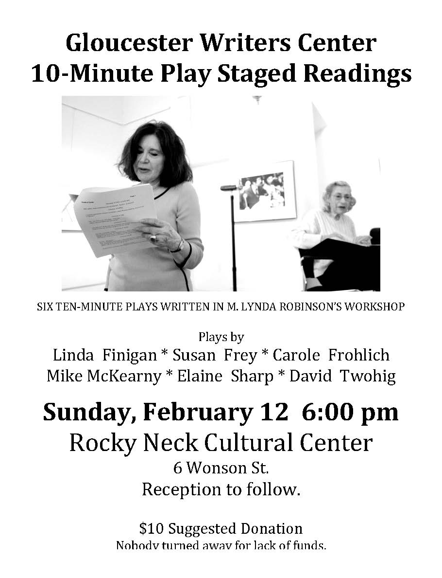 10-Minute Plays Staged Reading - Gloucester Writers Center